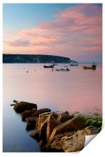 Looking across Swanage Bay, Dorset, Print