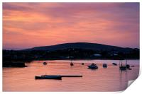 Swanage Sunset, Print