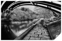 Supertram Bridge & Sheffield Canal, Print