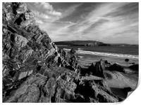 Hope Cove from Bigbury on Sea, Print