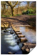 Porter Brook Stepping Stones & Falls, Print