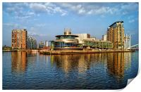 Salford Quays Reflections, Print