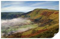 Mist below Mam Tor , Print