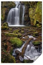 Lumsdale Falls and Bentley Brook , Print