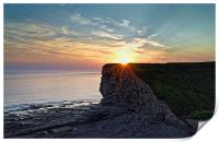 Sunset over Nash Point , Print