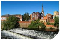 Rotherham Town Centre and River Don , Print