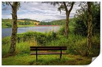 Ulley Bench with a View , Print