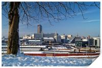 Sheffield City Centre viewed from Park Hill , Print