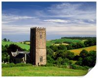 St Nectans Church, Ashcombe, Print