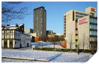 Hallam University and City Centre from Pond Street, Print