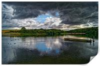 Storm Clouds over Ulley                 , Print