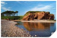 Budleigh Reflections                     , Print