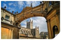 Bath Abbey and Arch                    , Print
