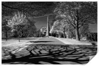 Cholera Monument, Infra Red                       , Print