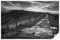 Great Ridge Mono Sunset                     , Print