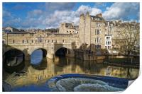 Pulteney Bridge & River Avon in Bath              , Print