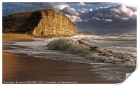 West Bay Storm And Waves, Print