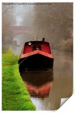 Narrowboat on the Canal, Print
