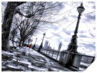 Red jacket on the south bank, Print