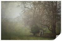 Misty Morning in Wroxall, Print