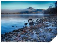 Conic Hill from Inch Cailloch, mist over water, Print