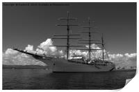 Sea cloud 2 bw, Print