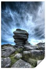 The Cheesering on Bodmin Moor, Print