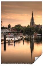 Evening over Marlow, Print