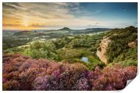 Evening at Cockshaw Hill, Roseberry Topping, Print