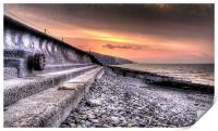 Early morning view at Amroth, Print