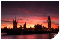 Sunset over Parliament, Print