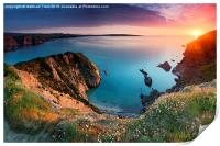 Pembrokeshire Coast Sunset, Print