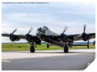 RAF Lancaster PA474 taxies in, Print