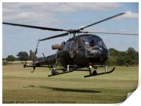 Army Scout helicopter, Print