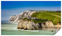 Fort Redoubt Freshwater Bay Isle Of Wight, Print