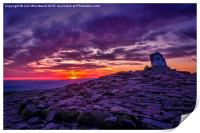 Sunrise From The Top Of Pen Y Fan  Brecon Beacons, Print