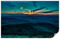 Sunset From Pen Y Fan Brecon Beacons, Print