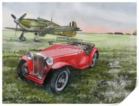 MG and Hawker Hurricane, Print