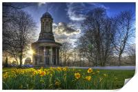 Sunset at Saltaire Church, Print