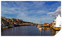 Whitby From The Swing Bridge, Print