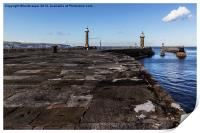 Whitby Lighthouses, Print