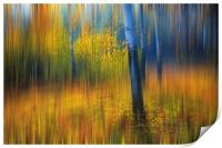 In the Golden Woods. Impressionism , Print
