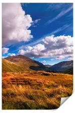 Sunny Day at Rest and Be Thankful. Scotland, Print