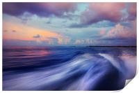 Sunset Wave. Maldives. Impressionism, Print
