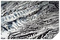 Mountains Patterns. Aerial View  , Print