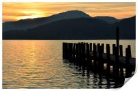 The sun goes down at Coniston, Print