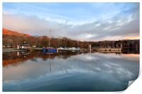 First Light Reflections At Coniston, Print