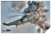Royal Navy Sea King Helicopter, Print