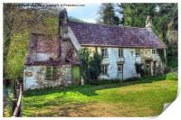 Dilapidated Cottages in Tintern, Print