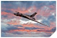 Avro Vulcan at Dawn, Print
